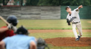 Quakertown's Cooper Johnspn throws a pitch against Doylestown in the first inning at Quakertown Memorial Stadium Monday June 27, 2016 in Quakertown, Pennsylvania. (Photo by William Thomas Cain)