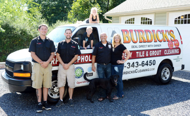 The staff at Burdick's Cleaning pose for a photo August 21, 2015 in Sellersville, Pennsylvania. (Photo by William Thomas Cain)